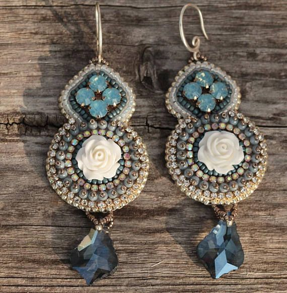 Check out this item in my Etsy shop https://www.etsy.com/listing/571554707/romantic-dangle-earring-bead-embroidered