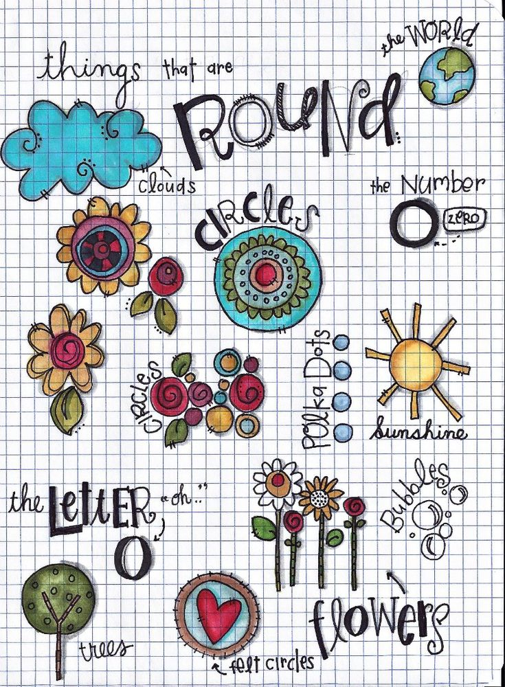 Circles workbook page. could also do the other basic shapes