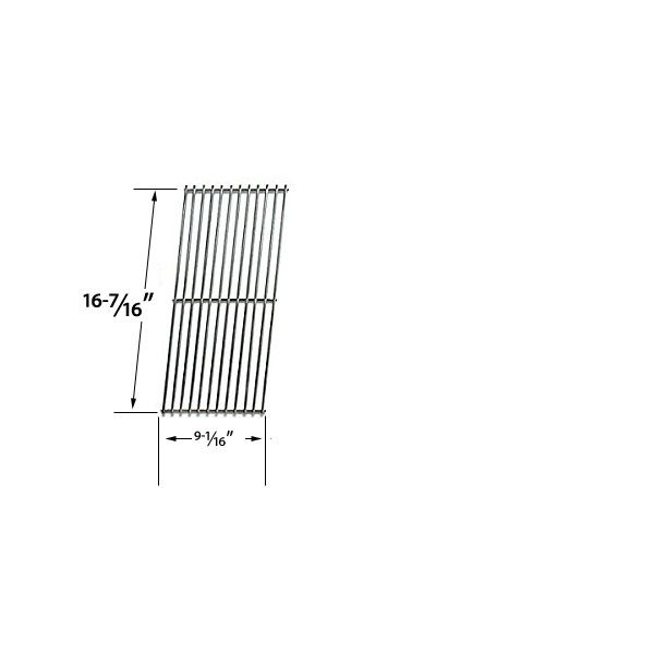 STAINLESS STEEL REPLACEMENT COOKING GRIDS FOR VERMONT CASTINGS, CHARGRILLER, BROILCHEF, MEDALLION GAS GRILL MODELS Fits Compatible Vermont Castings Models : CF9050, CF90501AP, CF9055, CF9055 3A, CF9055 3B, CF9055LP, CF9055N, VC50 A, VC50 B, VC500, VC50A, VC50B, VC6005, VCS3000, VSC5005BI , VSC5010