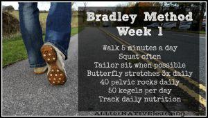 Bradley Method Exercises week 1 | ALLterNATIVElearning