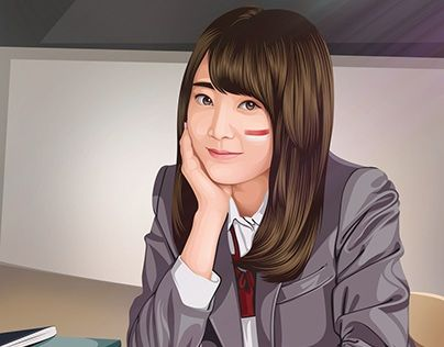 """Fan Art Miyawaki Sakura AKB48 Cartoon Version"" http://be.net/gallery/41785585/Fan-Art-Miyawaki-Sakura-AKB48-Cartoon-Version"