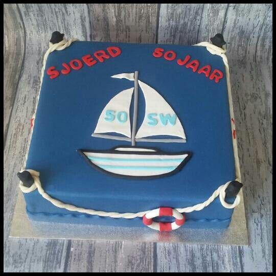 Zeilboot taart