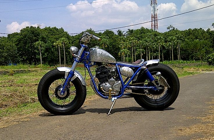 Yamaha Scorpio # Bratstyle # Bobber # Hand Engraving # Victorious Custom Works # Indonesian # West Java