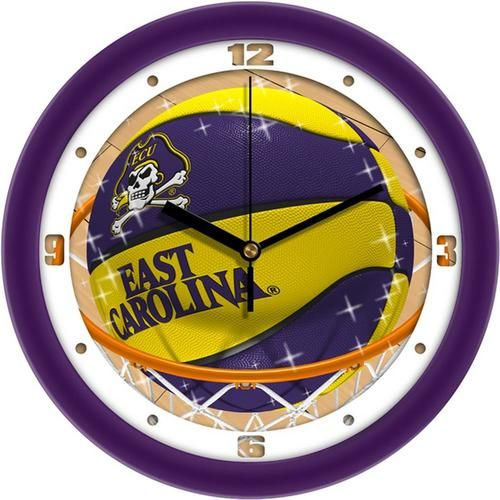 ECU East Carolina University Basketball Wall Clock