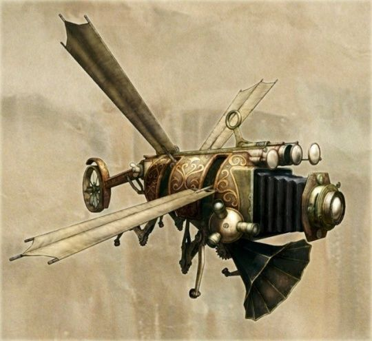 Klik Orbis Observer by Christopher Miscik - Steampunk Illustrations and Computer-generated Imagery