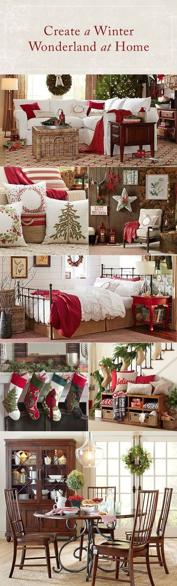 Simple decor switches are key when it comes to making holiday decorating a stress-free affair. Swap in accessories that have a festive color palette of red and green, embrace traditional motifs and designs, and don't forget to include plenty of cozy layers. From pillows and throws to stockings and wreaths, Birch Lane's Holiday Shop has everything you need to get your home in the spirit — and all orders over $49 ship free! #over_the_fireplace_decor
