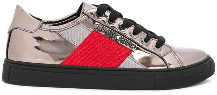 Armani Jeans metallic sneakers