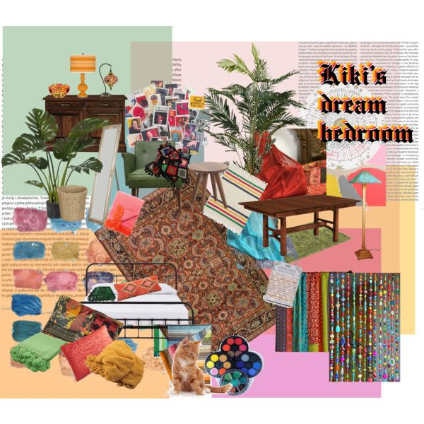 Kiki's dream bedroom by christie-weatie on Polyvore featuring Alan Fears, DutchCrafters, Andy Warhol, Design Within Reach, Fornasetti, Kate Spade, Pier 1 Imports, Sirius, Household Essentials and Oris