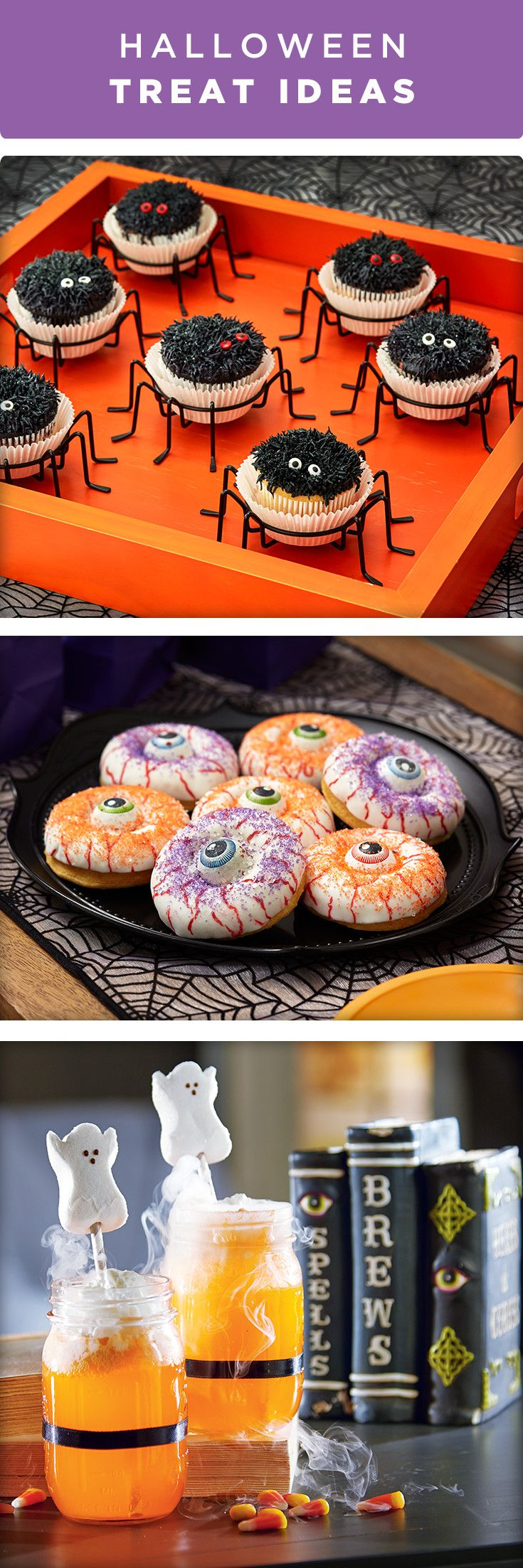 These creepy crawlers and spooky sweets make perfect Halloween treats! Share them with friends and family or serve them at your Halloween party.