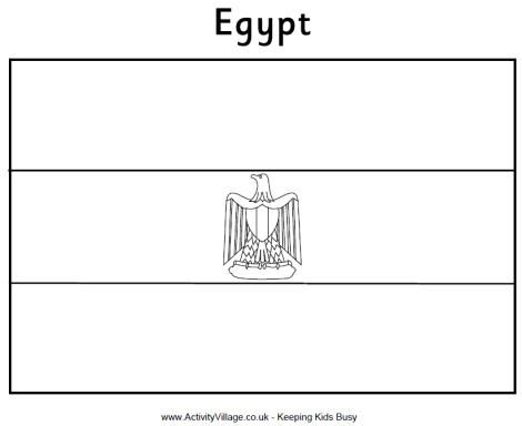 Egyptian flag to color