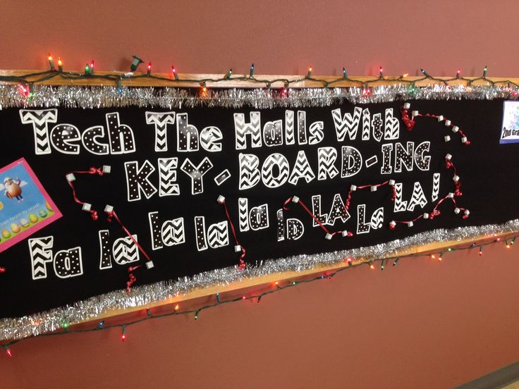 Technology bulletin board for Christmas!