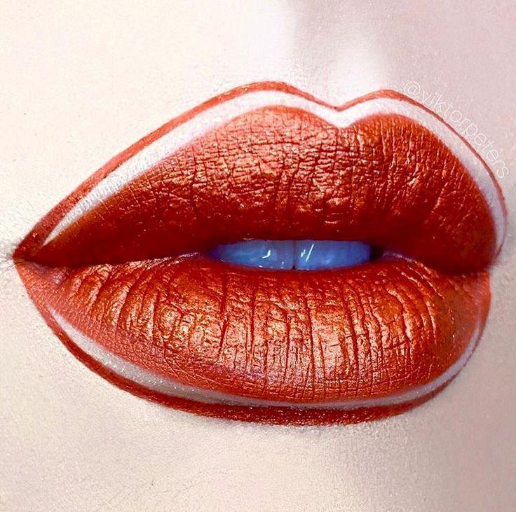 оранжевые губы картинки основном