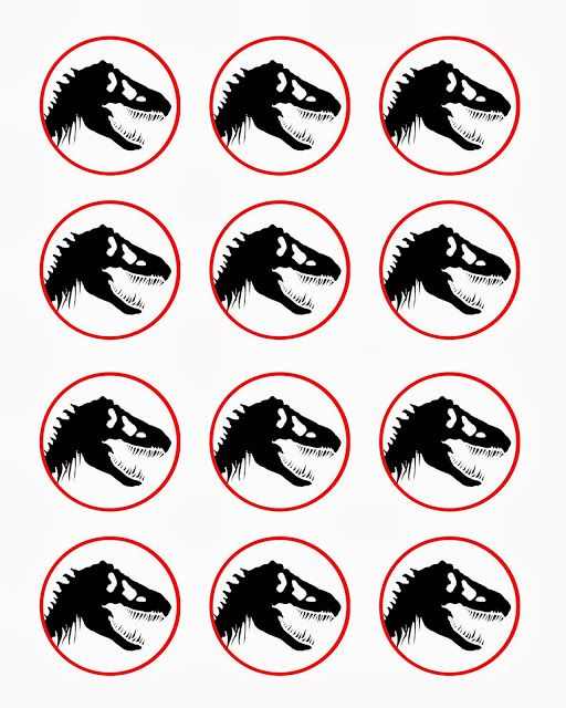 Free dinosaur (Jurrasic Park) party printables