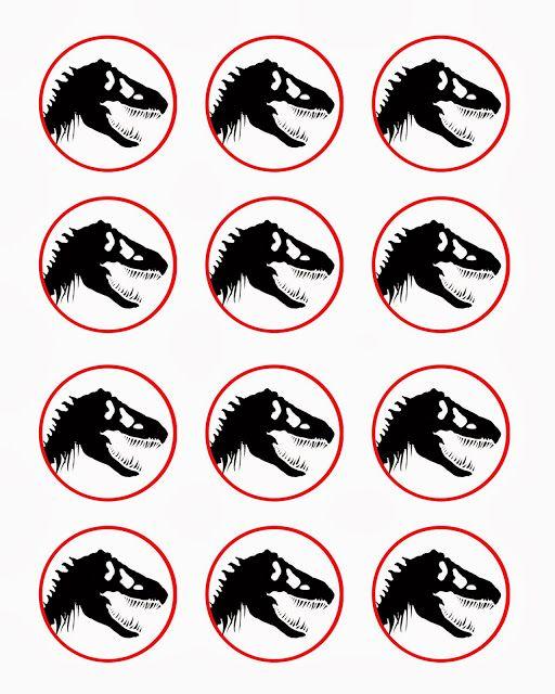 Free dinosaur (Jurrasic Park) party printables
