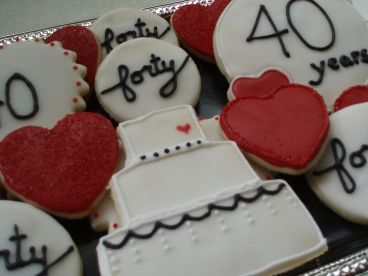 40th Wedding Anniversary Gifts For Friends: 24 Best Images About 40th Anniversary Ideas On Pinterest