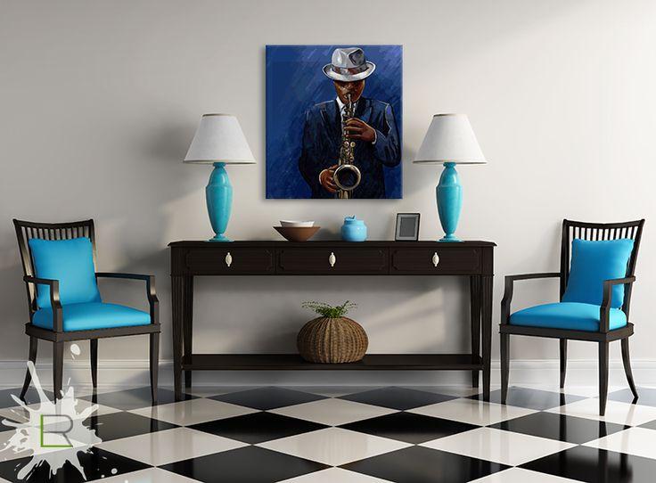 Obraz Saksofonista