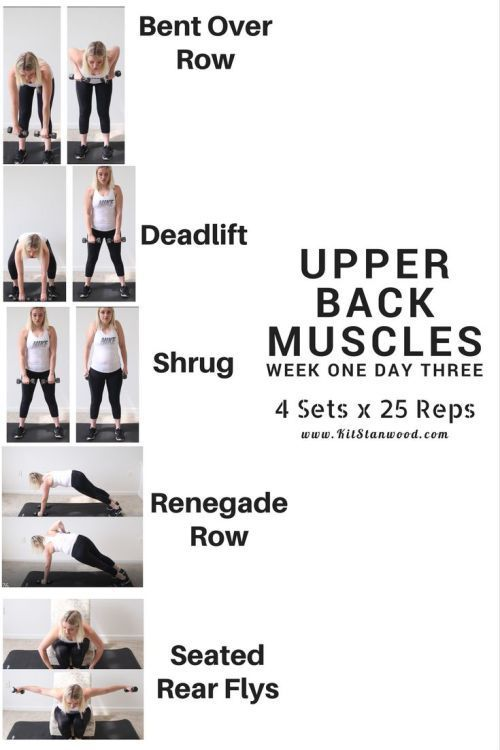 Fitness Challenge Week One Day Three – Upper Back
