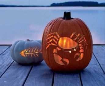 CoastalBeach House, Beach Halloween, Coastal Pumpkin, Coastal Halloween, Halloween Pumpkin, At The Beach, Pumpkin Carvings, Seaside Pumpkin, Lemon Bar