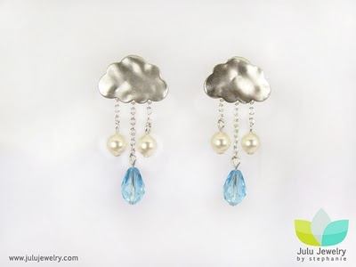Cloud earrings.Clouds Earrings, Raincloud Jewelry
