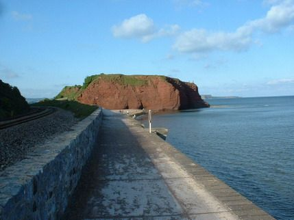 Dawlish Warren - the walk into Dawlish next to the train line ♥