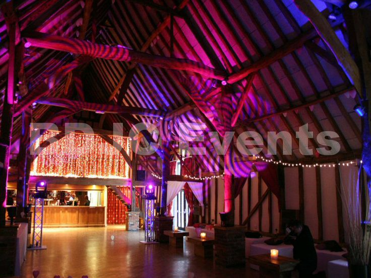 Wedding Lighting, transform large areas with high end moving head lighting, up-lights and lighting effects for your wedding