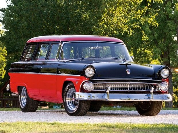 1955 ford country sedan six passenger station wagon car stationantique
