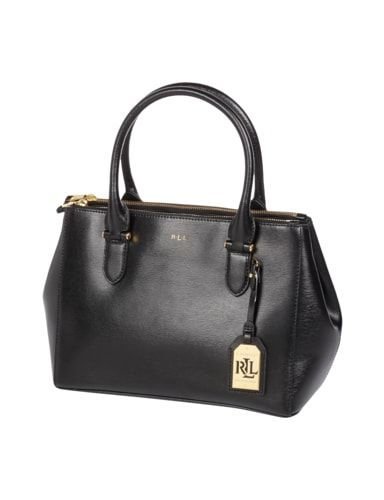 LAUREN-RALPH-LAUREN Handtasche aus echtem Leder in Grau / Schwarz online kaufen (9532788)   P&C Online Shop