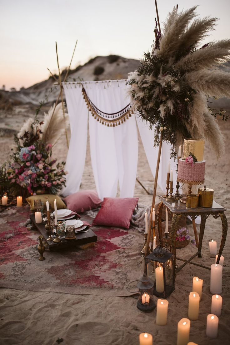 Nomadic Desert Boho Elopement Inspiration by Jessica Notelo & Fleur Dita | South…