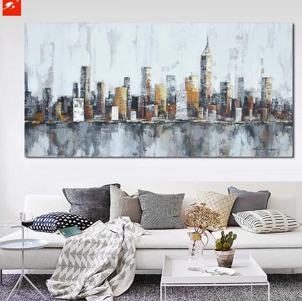Cityscape Apartments: 25+ Best Ideas About Skyline Painting On Pinterest