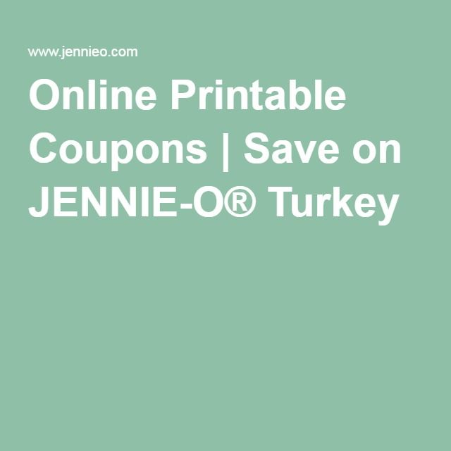 Online Printable Coupons | Save on JENNIE-O® Turkey