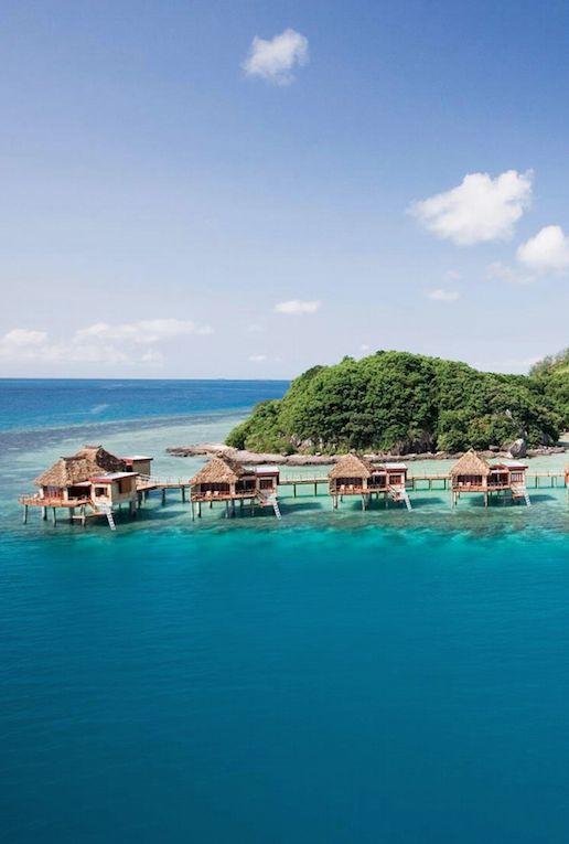 Adults-only island resort w/ Fijian bungalows. #Fiji