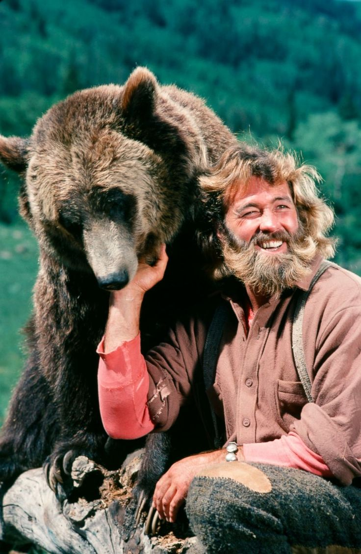 "Dan Haggerty is seen in his role as James ""Grizzly"" Adams from the series, ""The Life and Times of Grizzly Adams,"" 1977. He died on Jan. 15 at the age of 74."