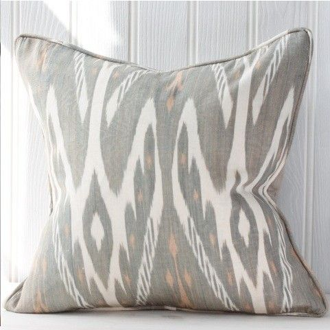 Ikat cushion - grey