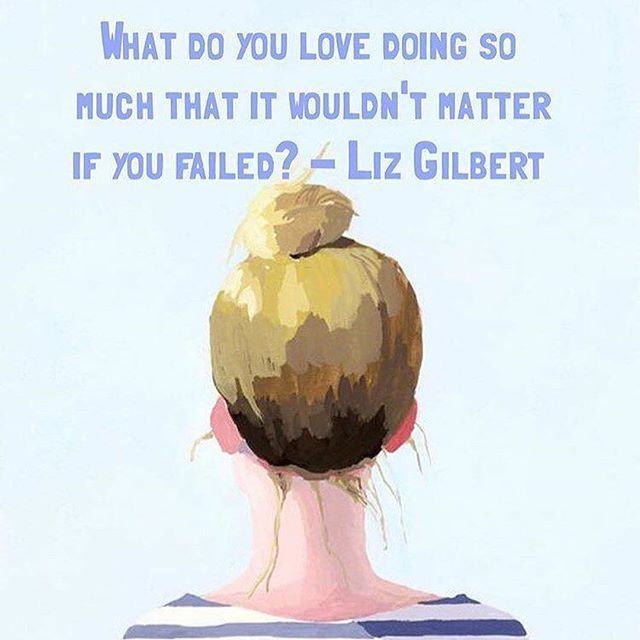 Great question to ponder from @elizabeth_gilbert_writer this Tuesday morning…