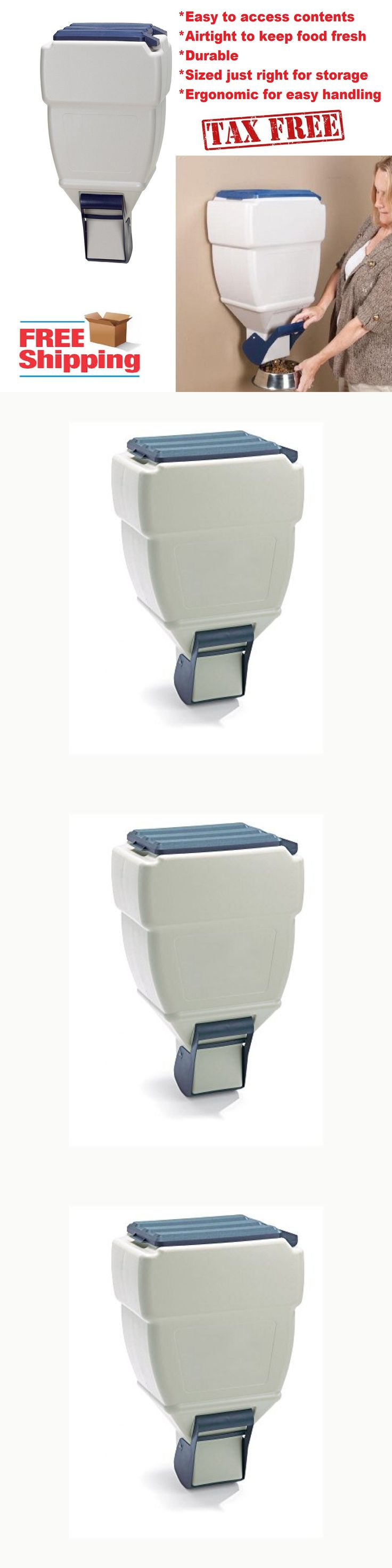 Dishes Feeders and Fountains 177789: Wall Mount Pet Dry Food Dispenser Cat Dog Food Storage Container Holds 40 Pounds -> BUY IT NOW ONLY: $39.26 on eBay!