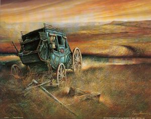 Ruane Manning Canvas Art   ... Products / Vehicles / Stage Coach / STAGE COACH - II by Ruane Manning