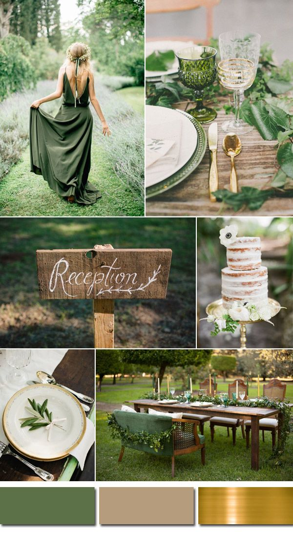 natural kale green spring wedding ideas for 2017