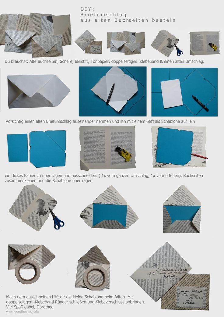 Brief Falten B6 : Die besten briefumschlag basteln ideen auf pinterest