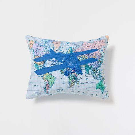 Leuk voor jongenskamer: KUSSEN MET LUCHTVAARTUIG - Bed - New Collection | Zara Home Nederland