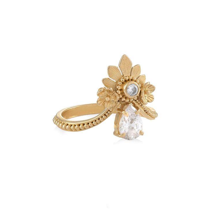 Tulola Mahkota Ring Gold Dip http://www.shoptulola.com/women/new-designs/mahkota-ring.html #SophieParis