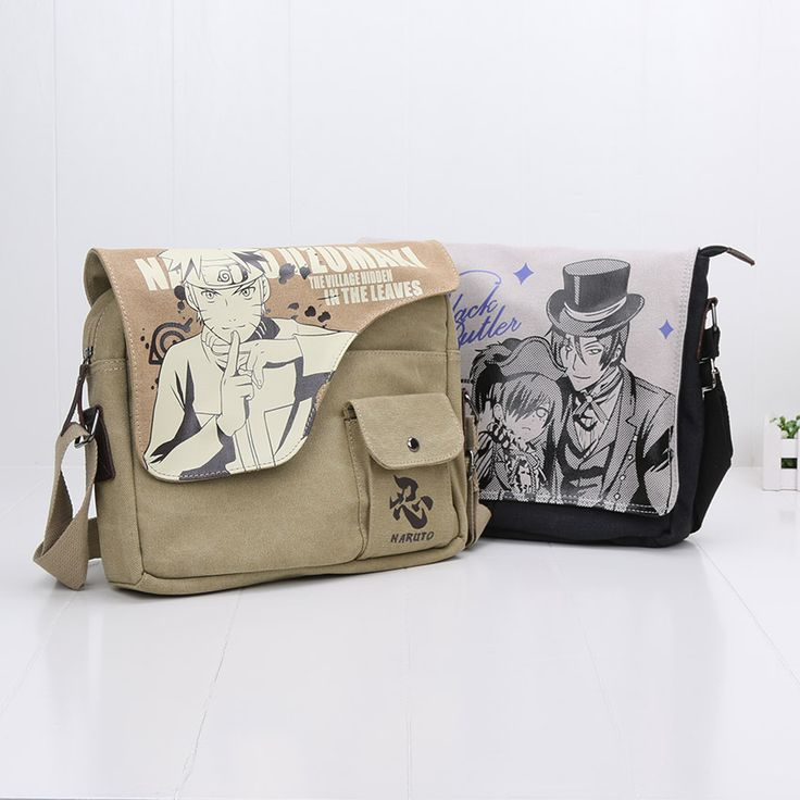 Naruto Black Butler Messenger Bags 31cm*26cm //Price: $24.99 & FREE Shipping //     #anime #otaku #manga #kawaii #animegirl #animelover