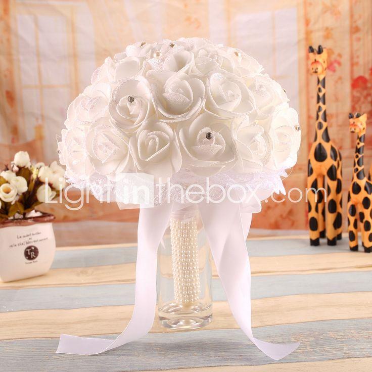 """Wedding Flowers Bouquets Wedding Elastic Satin Foam 7.87""""(Approx.20cm) 6000055 2018 – $14.99"""