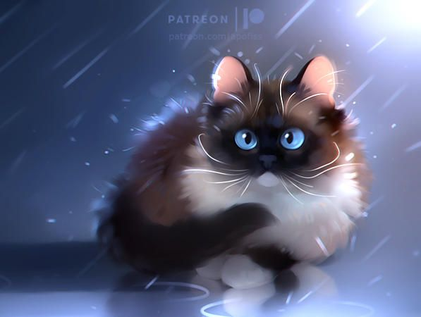 Moon Diamond By Apofiss Cat Art Cute Drawings