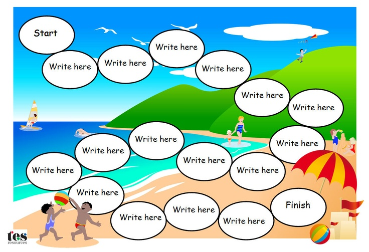 2 editable and adaptable A4 Word resources in .doc and .docx formats with a beach theme. Use to create sight word or basic maths games. Comic Sans font which is editable.The board games will need the addition of dice and counters to play