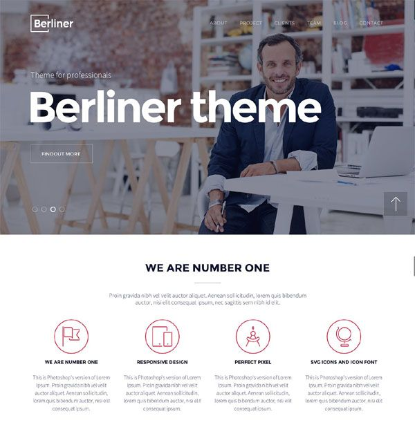 Creative WordPress Theme HTML version of this Wordpress theme is one of our most selling HTML5 templates and it is on popular list on Creative Market and another markets for a months, so we decided to move forward and to publish our Wordpress version. BERLINER is perfect full responsive CREATIVE Multipurpose Wordpress Theme. You can use it for agency, corporate, portfolio, non-profit, freelancer or general business. Theme is well documented and easy to use. FEATURES: Wordpress Theme Two…