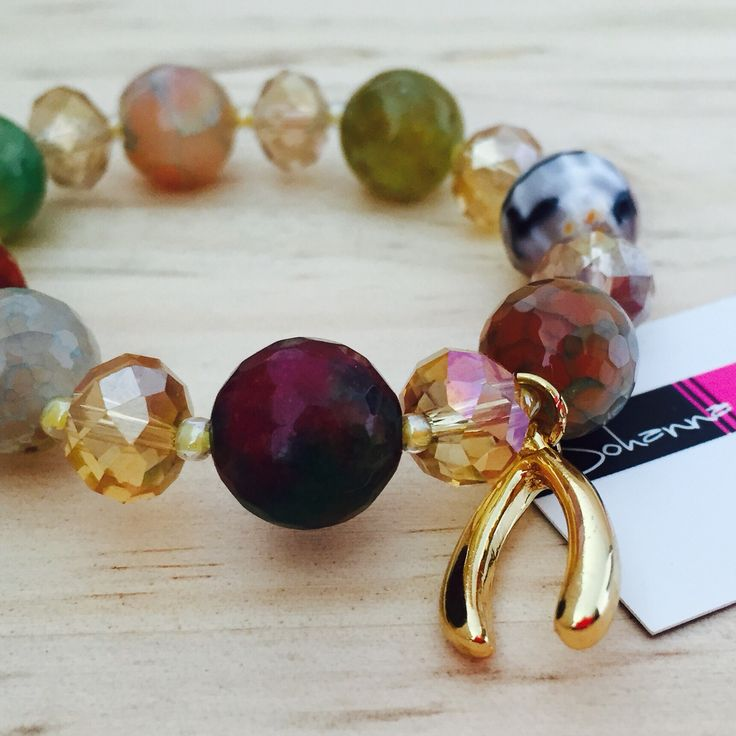 Pulsera Mix de piedras semipreciosas y detalles con Baño en oro ! Envíos a cualquier ciudad 3115568146 diseños exclusivos solo aquí en Accesorios Johanna Gómez