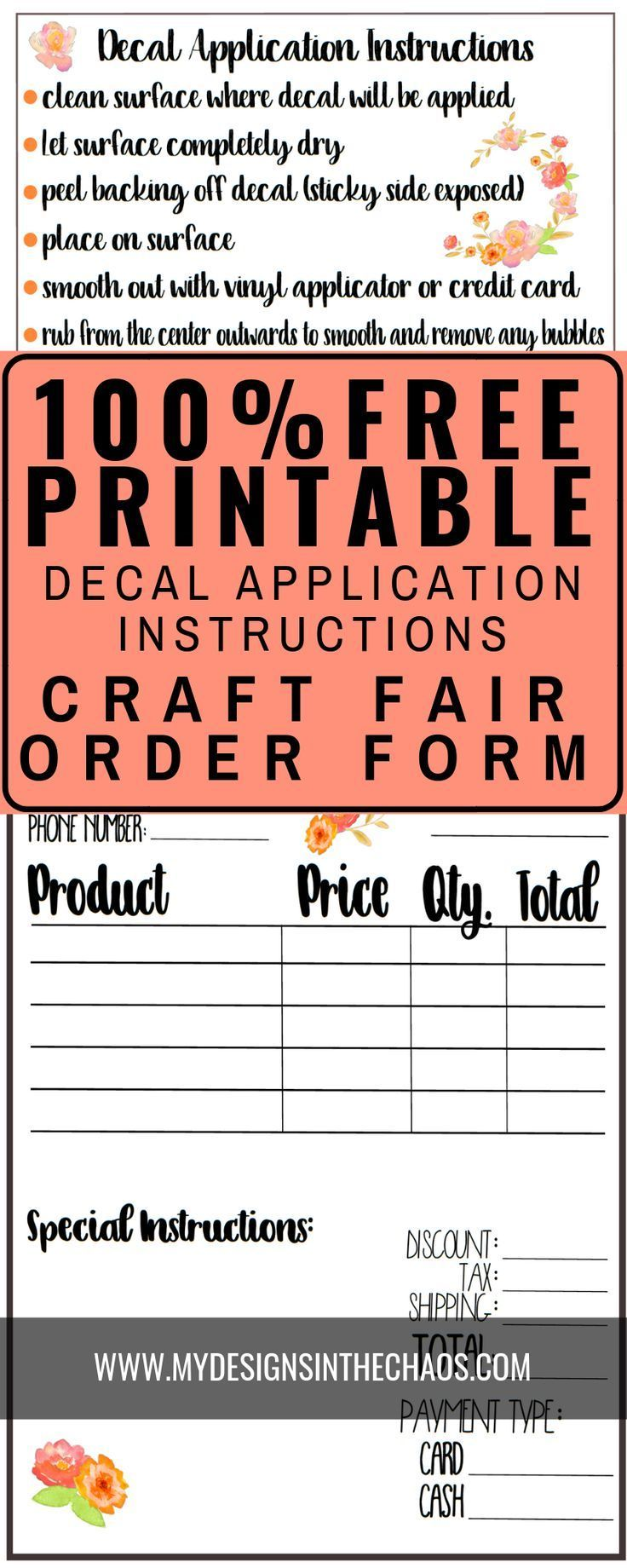 Decal Application Instructions Printable My Designs In The Chaos Printable Vinyl Diy Vinyl Projects Free Vinyl Decals