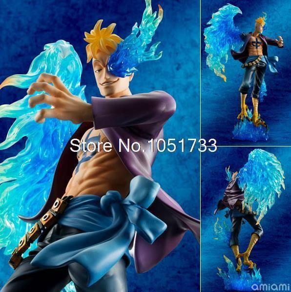 Anime One Piece P.O.P POP DX MAS Marco - The Phoenix Battle Ver. Boxed PVC Action Figure Collection Model Toy OPFG340