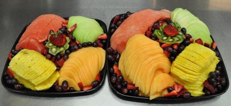 I like the presentation on these fruit trays.