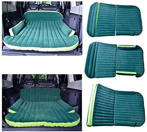 Thickened flocking bed in the car car car inflatable mattress mattress car vans SUV off road vehicle inflatable bed air mattress: Amazon.co.uk: Sports & Outdoors